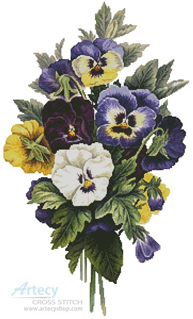 Pansy Bouquet - Cross Stitch Chart