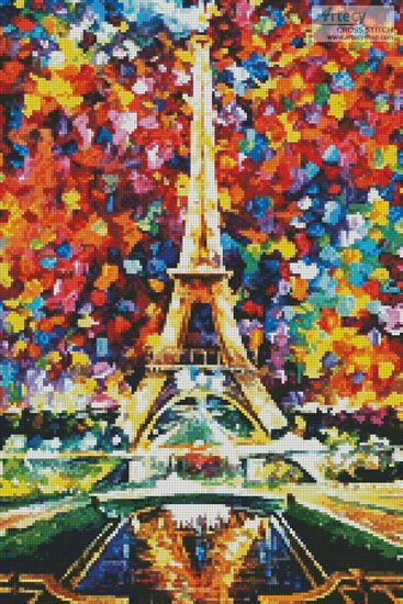 Paris of My Dreams (Crop) - Cross Stitch Chart