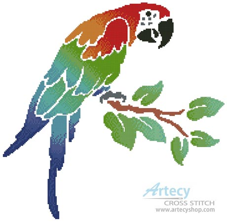 Parrot - Cross Stitch Chart