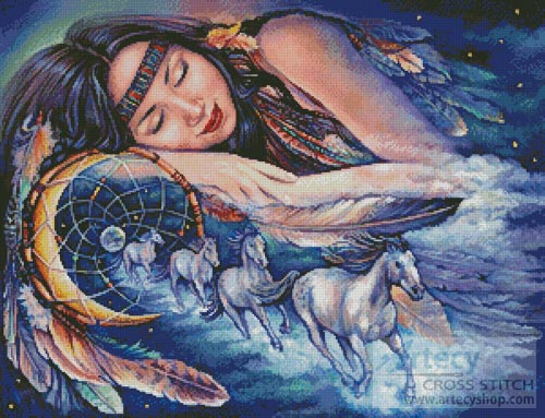Path of the Dream Catcher - Cross Stitch Chart