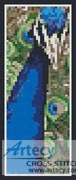 Peacock Bookmark - Cross Stitch Chart