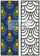 Peacock Feathers Bookmark - Cross Stitch Chart