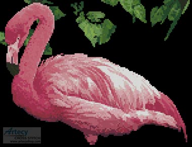 Pink Flamingo 2 - Cross Stitch Chart