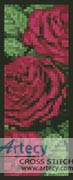Pink Rose Bookmark - Cross Stitch Chart