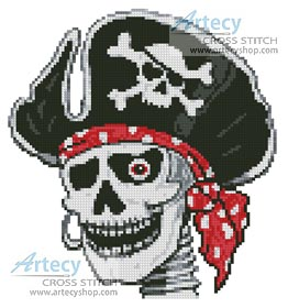 Pirate Skeleton - Cross Stitch Chart