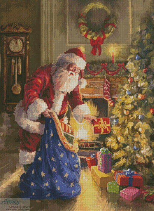 Placing the Presents - Cross Stitch Chart