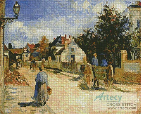 A street in Pointoise - Cross Stitch Chart