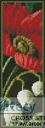 Poppies and Lily of the Valley Bookmark - Cross Stitch Chart