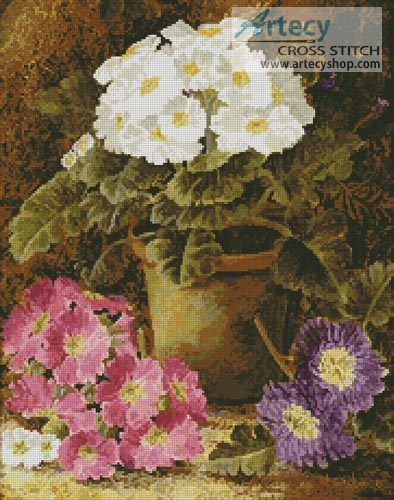 Potted Flowers - Cross Stitch Chart