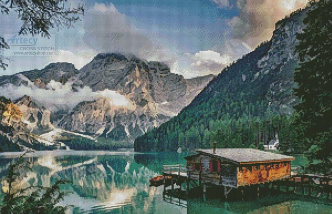 Pragser Wildsee, Italy - Cross Stitch Chart