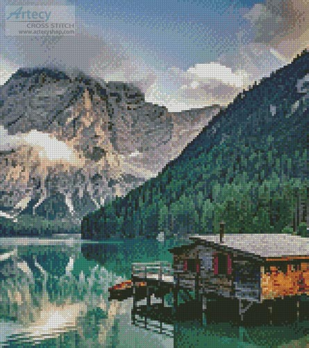Pragser Wildsee, Italy (Crop) - Cross Stitch Chart