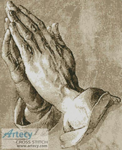 Praying Hands - Cross Stitch Chart