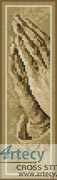 Praying Hands Bookmark - Cross Stitch Chart