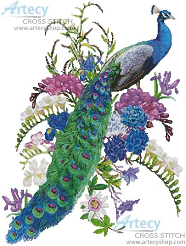 Proud as a Peacock - Cross Stitch Chart
