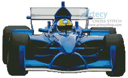 Racing Car - Cross Stitch Chart