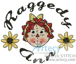 Raggedy Ann Circle - Cross Stitch Chart