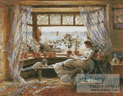 Reading by the Window - Cross Stitch Chart