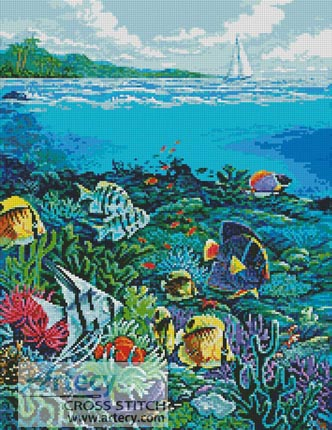 Reef Painting - Cross Stitch Chart