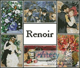 Renoir Sampler - Cross Stitch Chart
