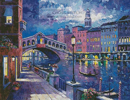 Rialto Bridge - Cross Stitch Chart