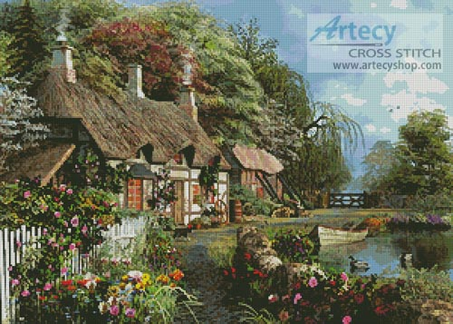 Riverside Home in Bloom - Cross Stitch Chart