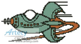 Rocket - Cross Stitch Chart