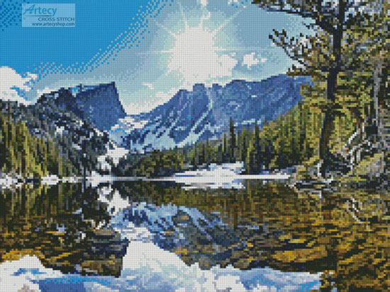 Rocky Mountain National Park (Crop) - (FB Group) Cross Stitch