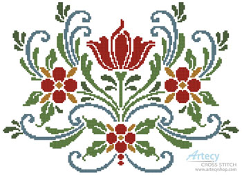 Rosemaling 5 - Cross Stitch Chart