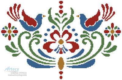 Rosemaling 4 - Cross Stitch Chart
