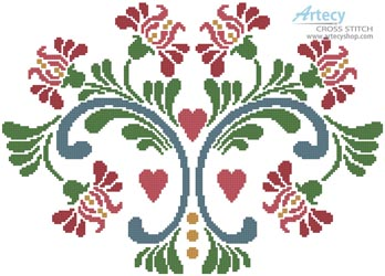 Rosemaling 6 - Cross Stitch Chart