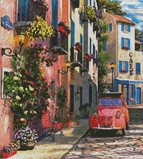 Rue Francais (Crop 2) - Cross Stitch Chart