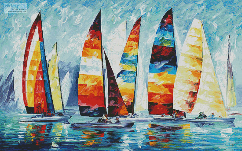 Sail Regatta (Large) - Cross Stitch Chart