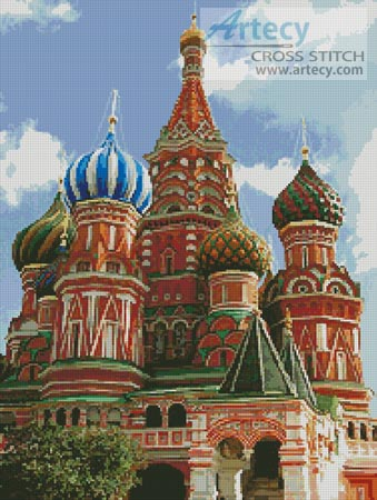 Saint Basil's Cathedral 2 - Cross Stitch