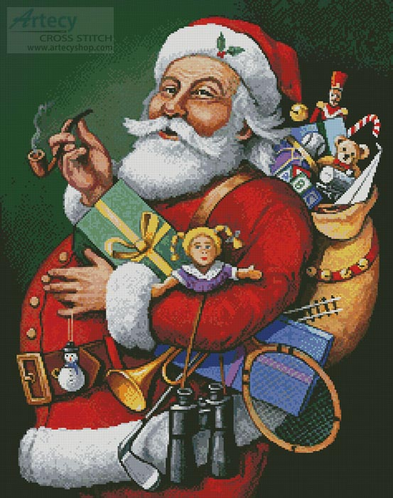 Saint Nick and all his Toys - Cross Stitch Chart