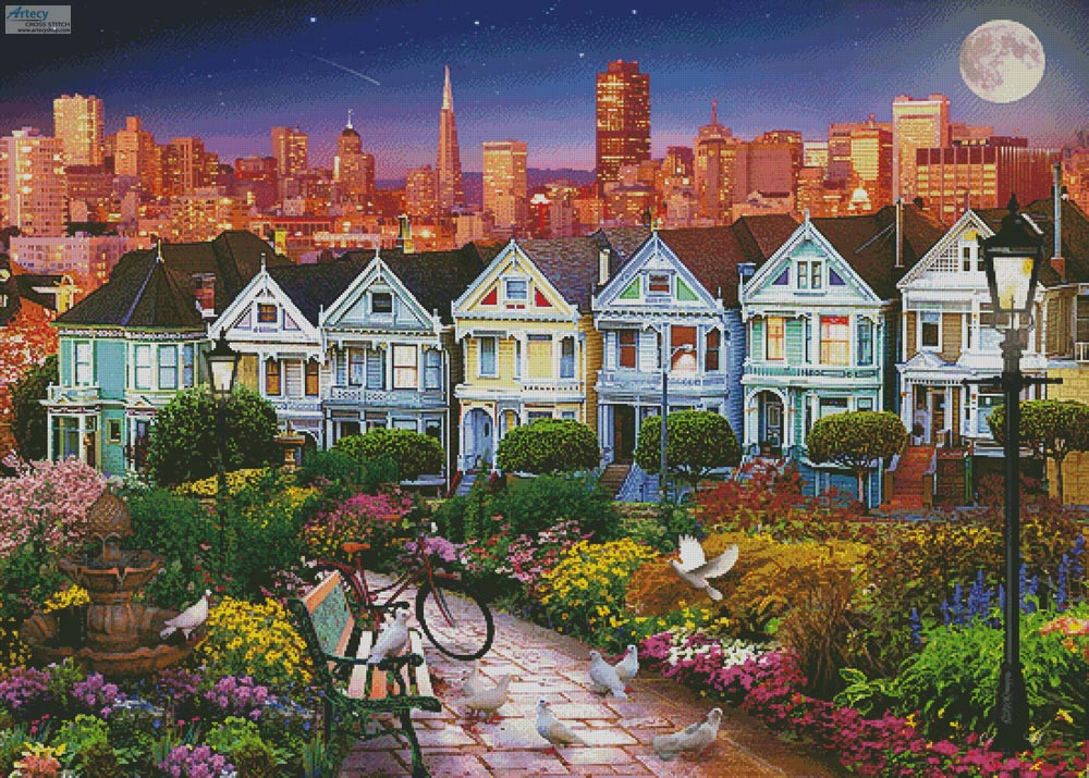 San Fran (Large) - Cross Stitch Chart