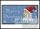 Santa Greeting Card - Cross Stitch Chart