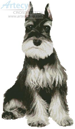 Schnauzer 2 - Cross Stitch Chart