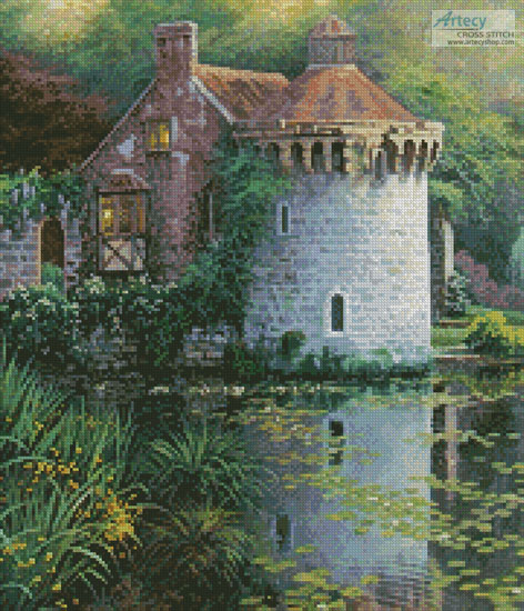 Scotney Castle Garden (Crop) - Cross Stitch Chart
