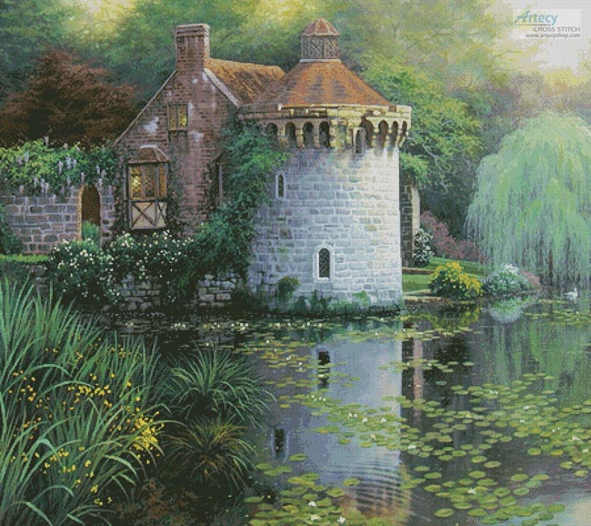 Scotney Castle Garden (Cushion) - Cross Stitch Chart