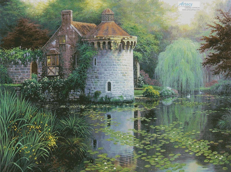 Scotney Castle Garden (Large) - Cross Stitch Chart