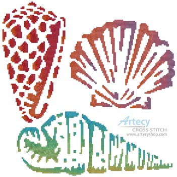 Sea Shells - Cross Stitch Chart