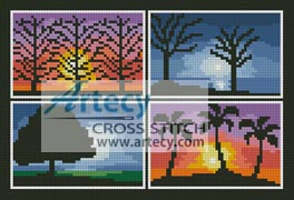 Season Evening Sampler - Cross Stitch Chart
