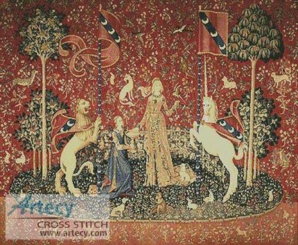 4e919ed21ce Taste - The Lady and the Unicorn Cross Stitch Pattern to print online.