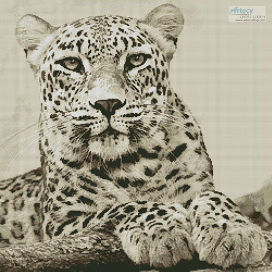 Sepia Leopard - (Facebook Group) Cross Stitch Chart
