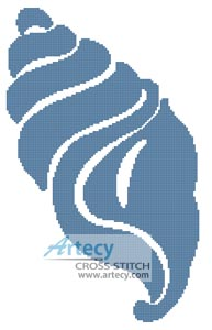Shell Design 2 - Cross Stitch Chart