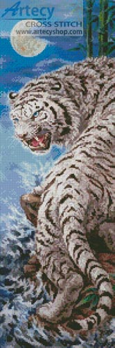 Silver Tiger - Cross Stitch Chart