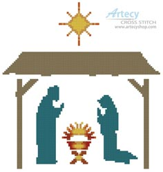 Small Nativity - Cross Stitch Chart