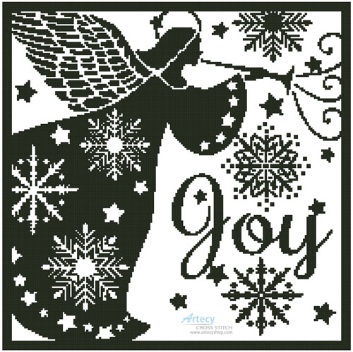 Snowflake Angel Silhouette - Cross Stitch Chart