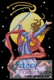 Sorceress 2 - Cross Stitch Chart