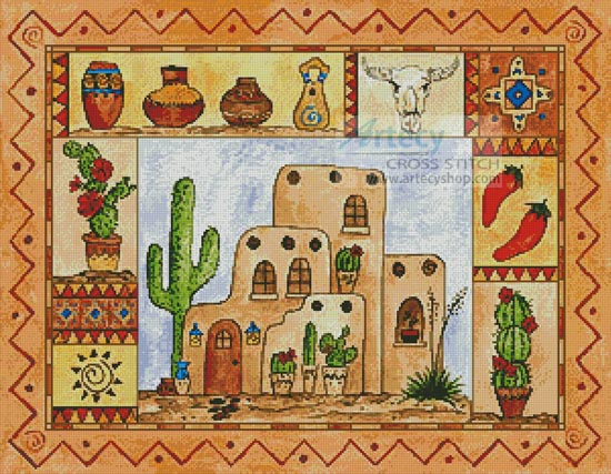 Southwest Sampler - Cross Stitch Chart
